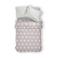 Комплект постельного белья Фланель Хлопковый 2463C M&M 1326 Белый, Бежевый