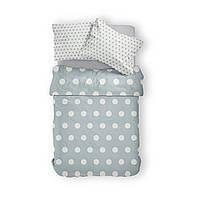 Комплект постельного белья Фланель Хлопковый 2463D M&M 1340 Белый, Серый