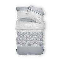 Комплект постельного белья Фланель Хлопковый 2801B M&M 1746 Белый, Серый