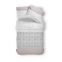 Комплект постельного белья Фланель Хлопковый 2801C M&M 1760 Белый, Бежевый