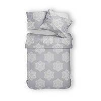 Комплект постельного белья Фланель Хлопковый 2866B M&M 3467 Белый, Серый