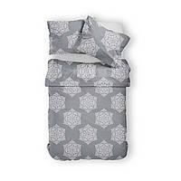Комплект постельного белья Фланель Хлопковый 2866C M&M 3481 Белый, Серый