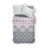 Комплект постельного белья Фланель Хлопковый 2869C M&M 1470 Белый, Серый