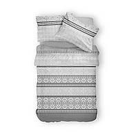 Комплект постельного белья Фланель Хлопковый 2965B M&M 1517 Белый, Серый