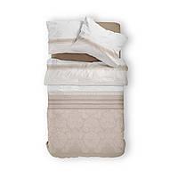 Комплект постельного белья Фланель Хлопковый 2266D M&M 1296 Белый, Бежевый
