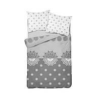 Комплект постельного белья Фланель Хлопковый 2869B M&M 1463 Белый, Серый
