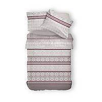 Комплект постельного белья Фланель Хлопковый 2965A M&M 1500 Бежевый, Коричневый, Серый