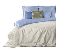 Комплект постельного белья Хлопковый Мако-сатин Nova M&M 3442 Синий, Кремовый