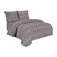 Комплект постельного белья Микроволокно 08 016 M&M 7623 Бежевый, Коричневый