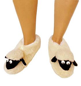 Меховые домашние тапочки Овечки Sheepskin Размер 35-36