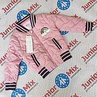 Детская куртка бомбер  демисезонная  на девочку F26, фото 1