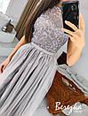 Длинное платье с пышной фатиновой юбкой и кружевным верхом без рукава 66py951Е, фото 3