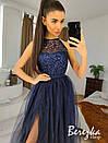 Длинное платье с пышной фатиновой юбкой и кружевным верхом без рукава 66py951Е, фото 6