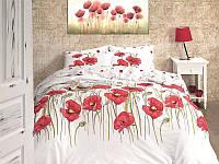 Комплект постельного белья First Choice Ranforce Bozca Kirmizi Двуспальный Евро