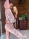 Бархатный женский спортивный костюм со свободной олимпийкой и зауженными штанами 66so857Q, фото 4