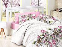 Комплект постельного белья First Choice Ranforce Riella Pembe Двуспальный Евро
