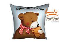 Красивая подушка Любимая мамочка 40 см