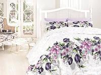 Комплект постельного белья First Choice Ranforce Riella Lila Двуспальный Евро