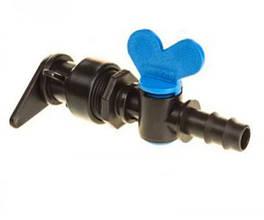 Кран для краплинної трубки діаметром 16 мм під рукав LFT - Eco Irtech