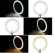 Светодиодное кольцо селфи  на штатив с держателем для телефона и регулятором, диаметр 26 см, фото 3