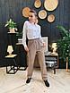 Женская классическая рубашка из софта с карманами на груди и большими пуговицами 63rz333, фото 3