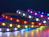 Світлодіодна стрічка WS2812B, RGB, IP30, 30 Світлодіодів/м, 5В, 1м, Біла підкладка, фото 1