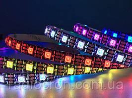 Светодиодная лента WS2812B, RGB, IP30, 30 Светодиодов/м, 5В, 1м, Белая подложка