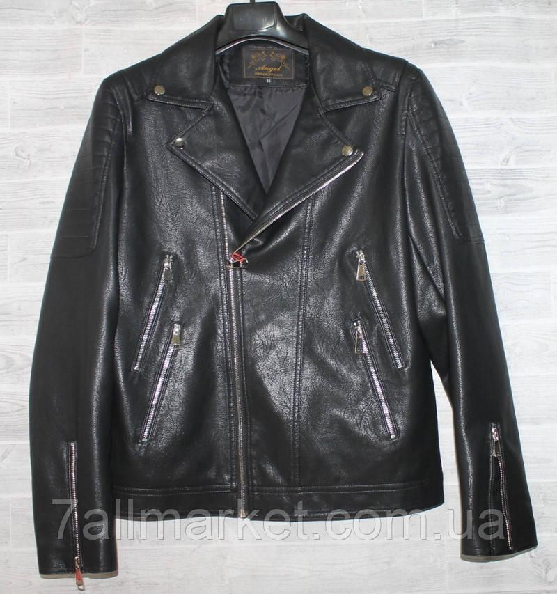 """Куртка-косуха чоловіча демісезонна кожзам, розміри 44-54 (3ол) """"JOKER"""" купити недорого від прямого постачальника"""