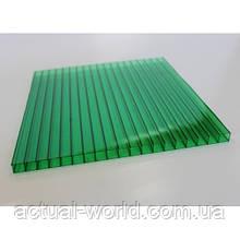 Сотовый поликарбонат Polygal (зеленый), 8мм, м2