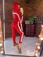 Бархатный женский спортивный костюм со свободной олимпийкой и зауженными штанами 66rt857Q