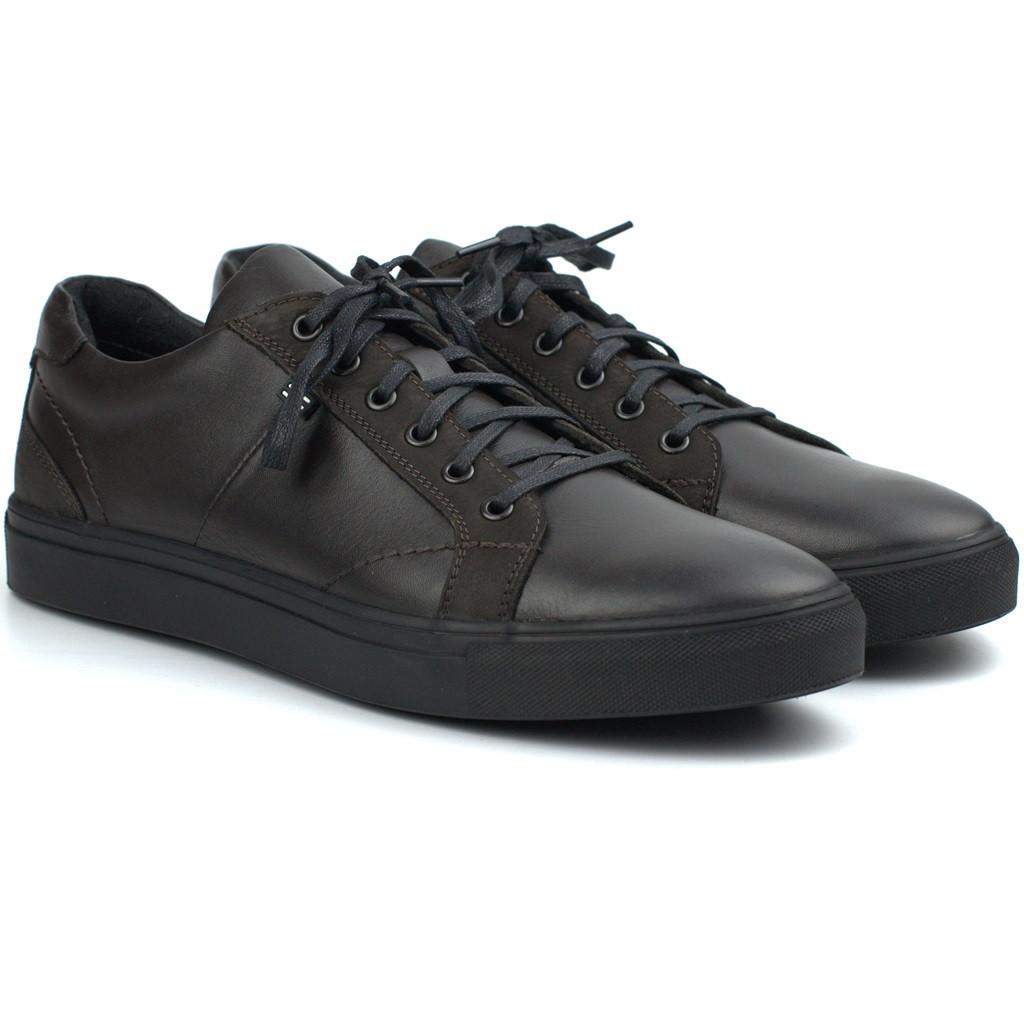 Мужские кожаные кроссовки коричневые кеды обувь больших размеров Rosso Avangard Puran Night Brown BS