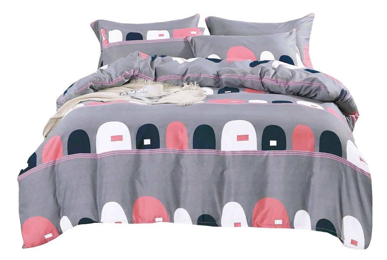 Комплект постельного белья Сатин Dalwin 112 M&M 2890 Серый, Розовый