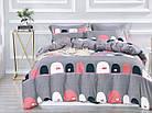 Комплект постельного белья Сатин Dalwin 112 M&M 2890 Серый, Розовый, фото 2