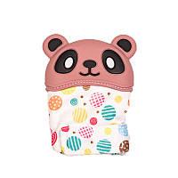 Варежка-грызунок SLINGOPARK «Панда» (розовый с кружочками)