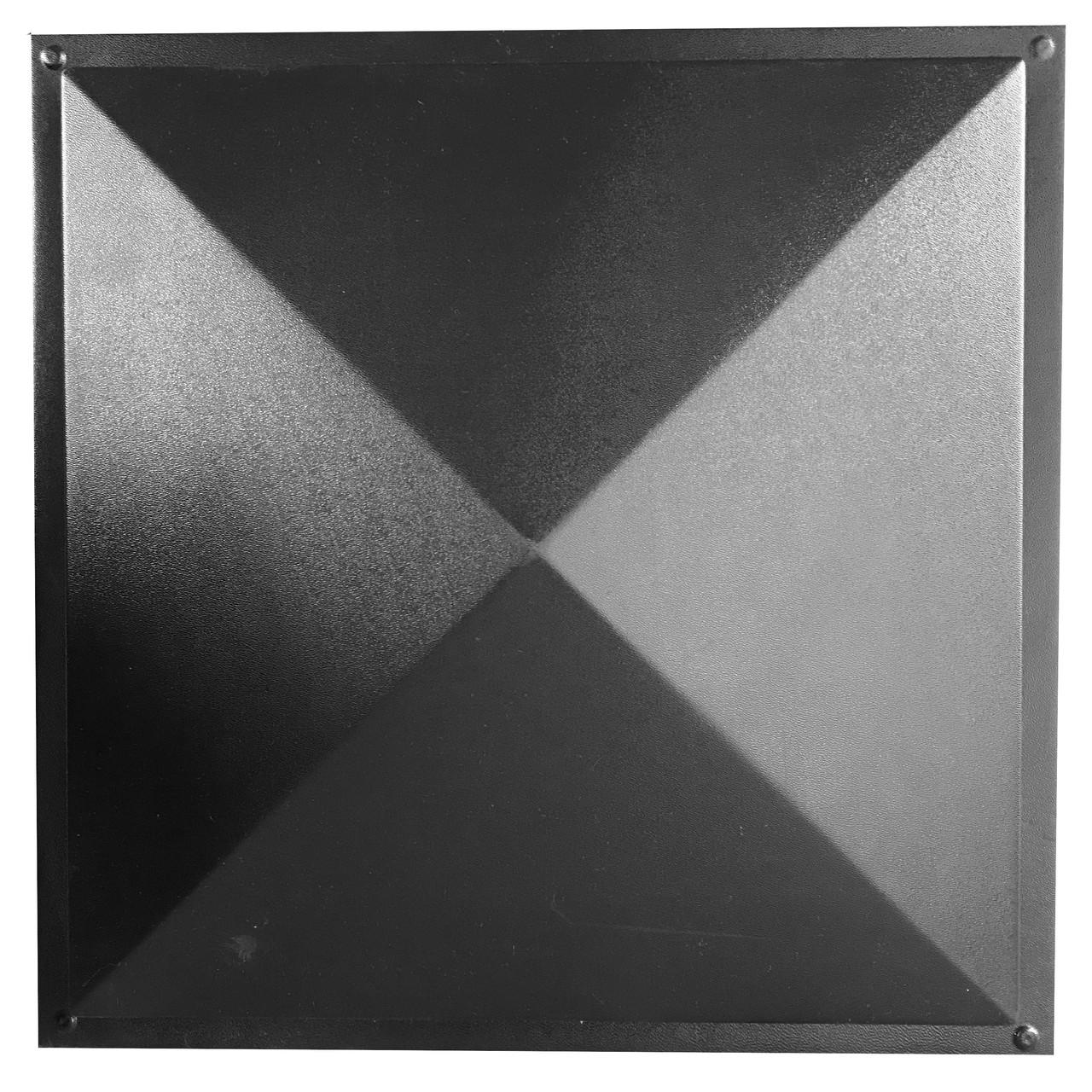 АБС форма для крышки (колпака) на столбы и заборы Гладкая 450*450*120 мм