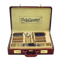 Столовый набор Maestro MR-1518-72 Фраже 72 предмета | Набор столовых предметов в чемодане Маэстро, Маестро
