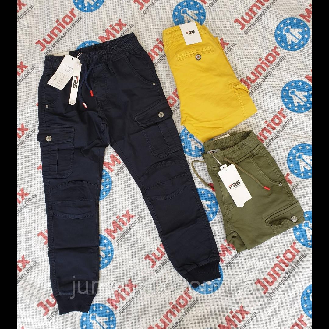 Котоновые брюки цветные для мальчиков оптом F26