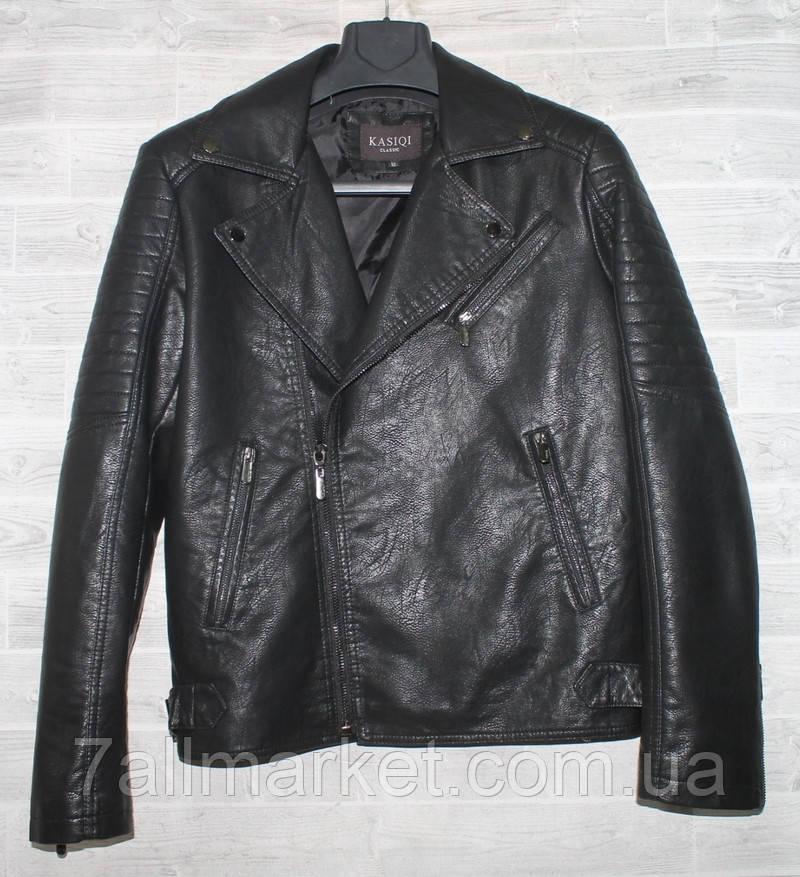 """Куртка-косуха мужская KASIQI демисезонная кожзам, размеры 46-58 """"JOKER"""" купить недорого от прямого поставщика"""
