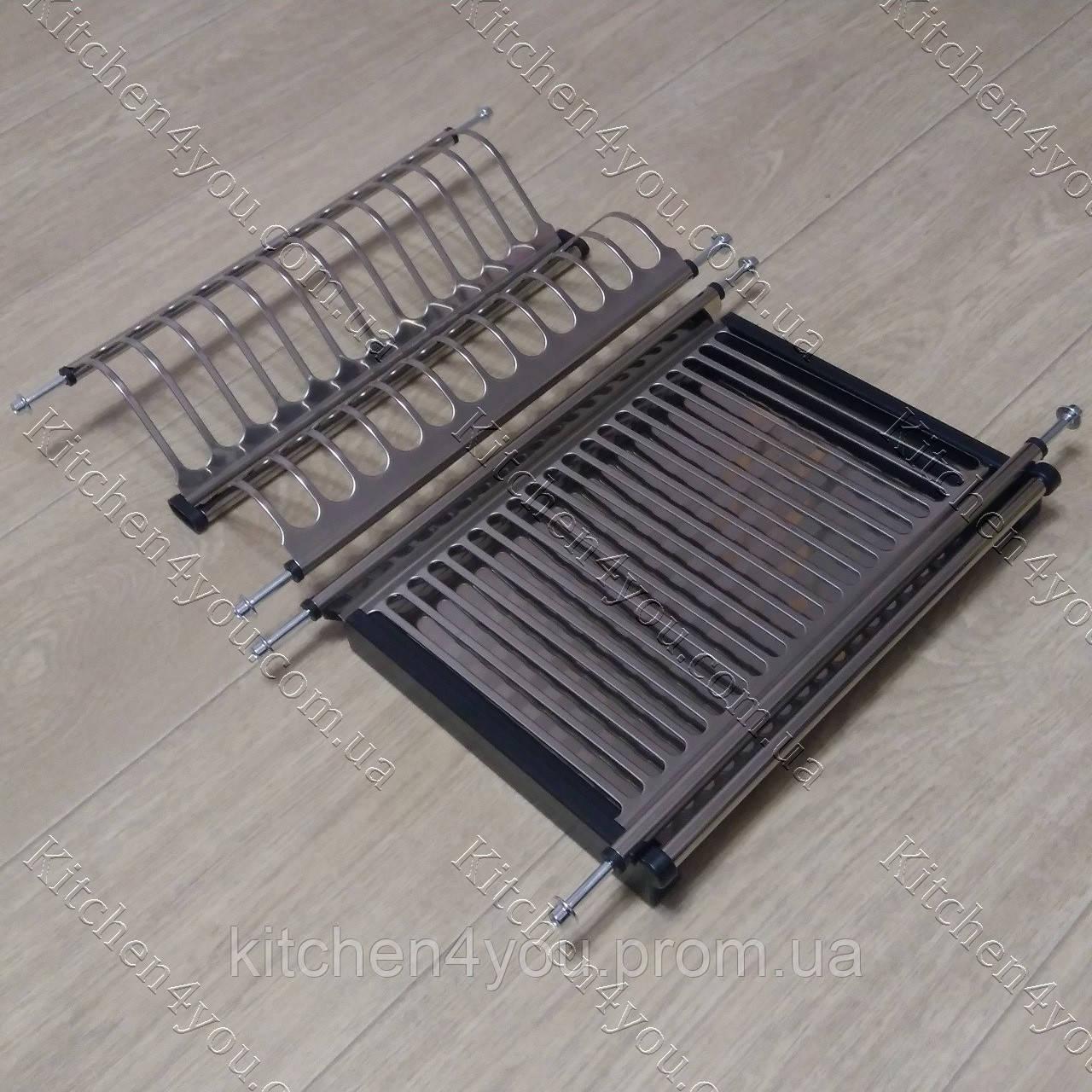 Вбудована сушка в секцію 400 мм. для посуду з нержавіючої сталі