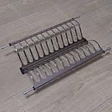Вбудована сушка в секцію 400 мм. для посуду з нержавіючої сталі, фото 2