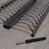 Вбудована сушка в секцію 400 мм. для посуду з нержавіючої сталі, фото 7