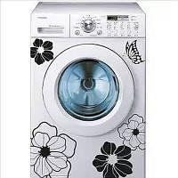 Виниловые наклейки  на холодильник, стиральную машину, душевую, мебель цветы и бабочки