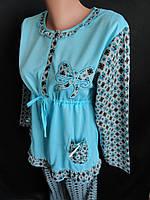 Байковые пижамы с оборками., фото 1