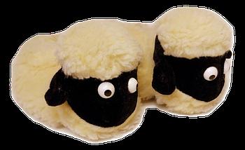 Детские комнатные тапочки Овечки Sheepskin Размер 2, фото 2