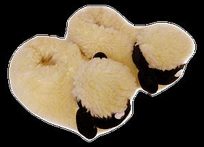Детские комнатные тапочки Овечки Sheepskin Размер 2, фото 3