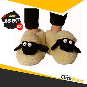 Детские комнатные тапочки Овечки Sheepskin Размер 2