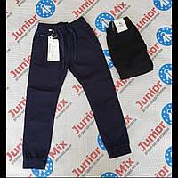 Подростковые котоновые брюки для мальчиков синегои черного цвета оптом F26