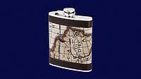 Металлическая фляга Карта
