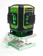 Лазерный уровень строительный Fukuda 3D MW-93D-3GJ нивелир с нижней призмой, зеленый луч, пульт ДУ