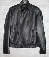 """Куртка-косуха чоловіча демісезонна кожзам, стійка, розміри 46-58 (2цв) """"JOKER"""" недорого від прямого постачальника, фото 1"""